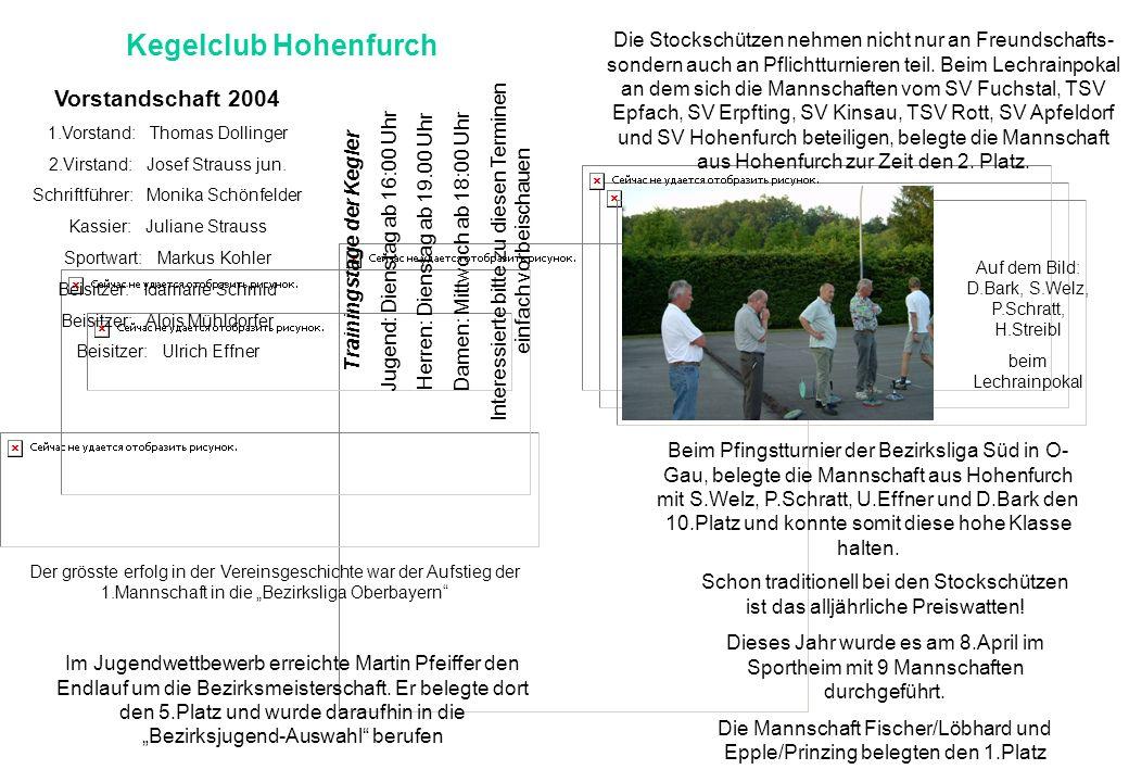 Kegelclub Hohenfurch Die Stockschützen nehmen nicht nur an Freundschafts- sondern auch an Pflichtturnieren teil. Beim Lechrainpokal an dem sich die Ma