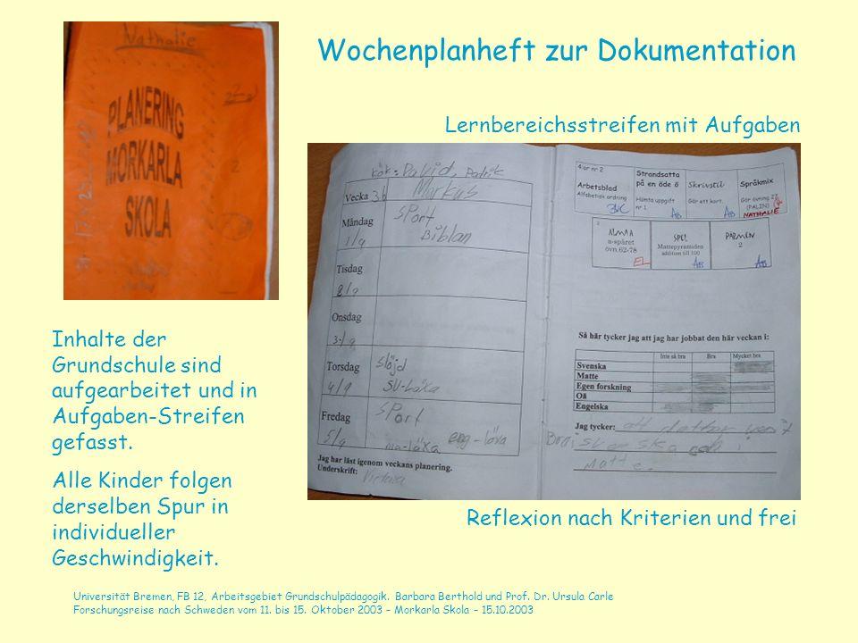 Universität Bremen, FB 12, Arbeitsgebiet Grundschulpädagogik.