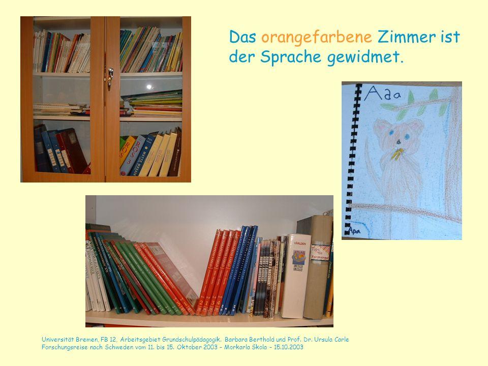 Universität Bremen, FB 12, Arbeitsgebiet Grundschulpädagogik. Barbara Berthold und Prof. Dr. Ursula Carle Forschungsreise nach Schweden vom 11. bis 15