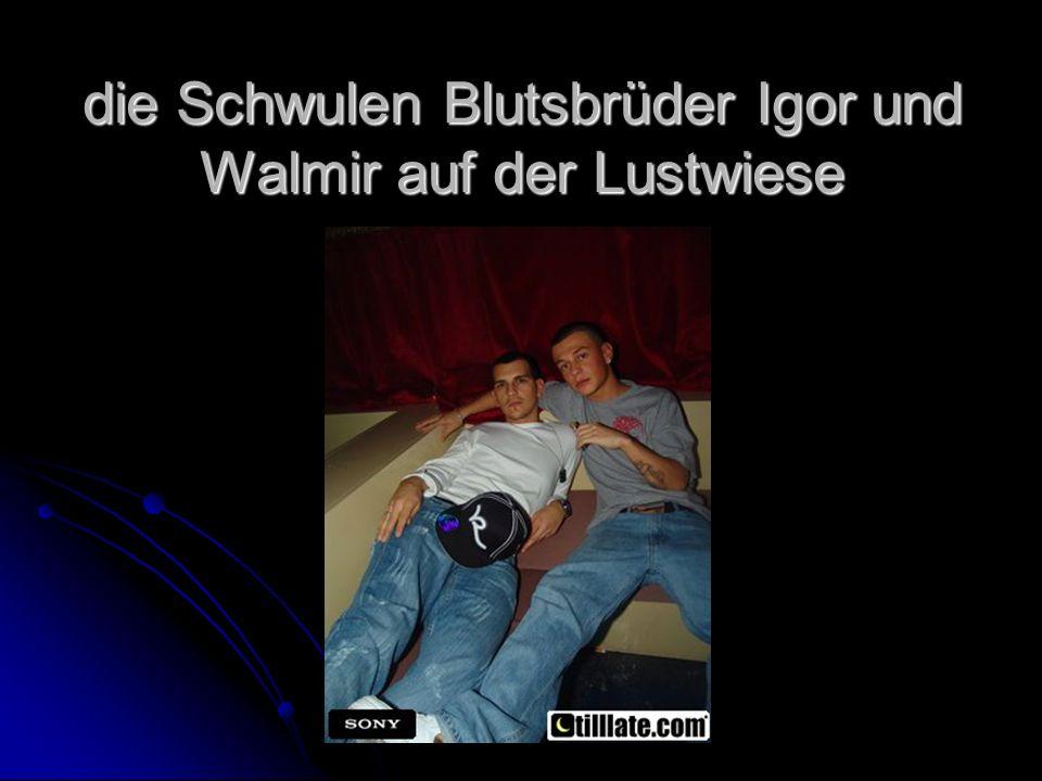 die Schwulen Blutsbrüder Igor und Walmir auf der Lustwiese