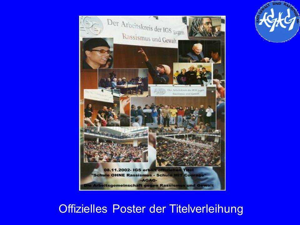 Offizielles Poster der Titelverleihung