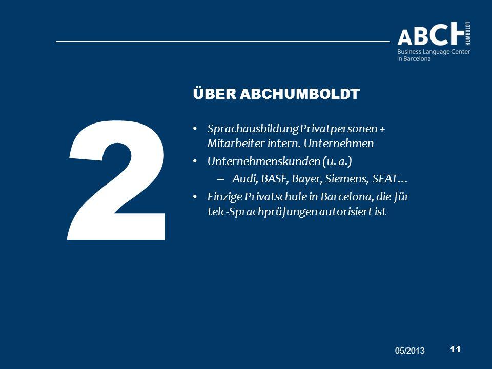 Sprachausbildung Privatpersonen + Mitarbeiter intern. Unternehmen Unternehmenskunden (u. a.) – Audi, BASF, Bayer, Siemens, SEAT… Einzige Privatschule