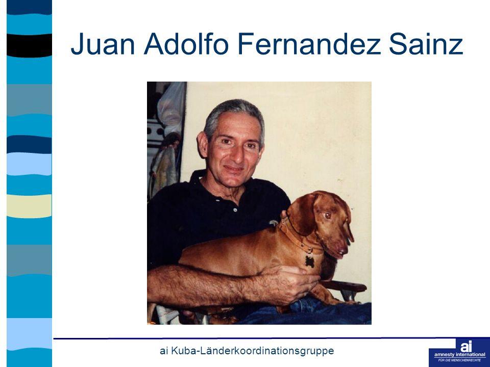 ai Kuba-Länderkoordinationsgruppe Juan Adolfo Fernandez Sainz