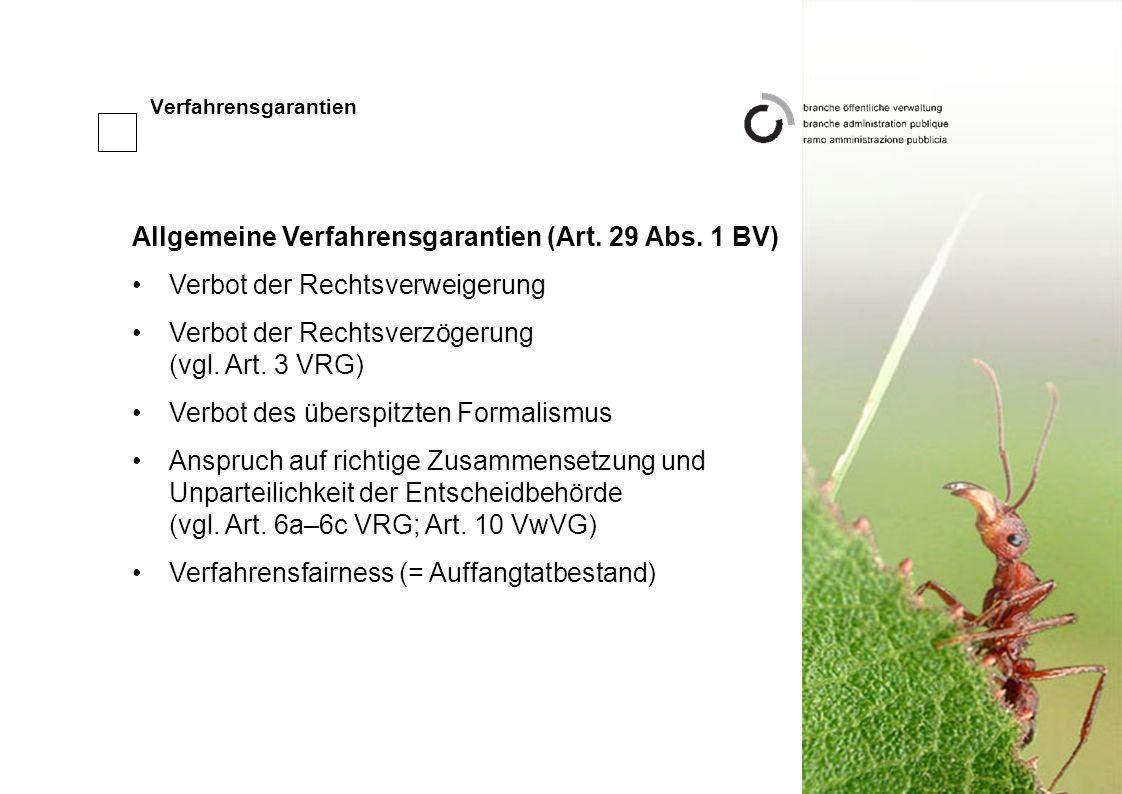 Verfahrensgarantien Allgemeine Verfahrensgarantien (Art.