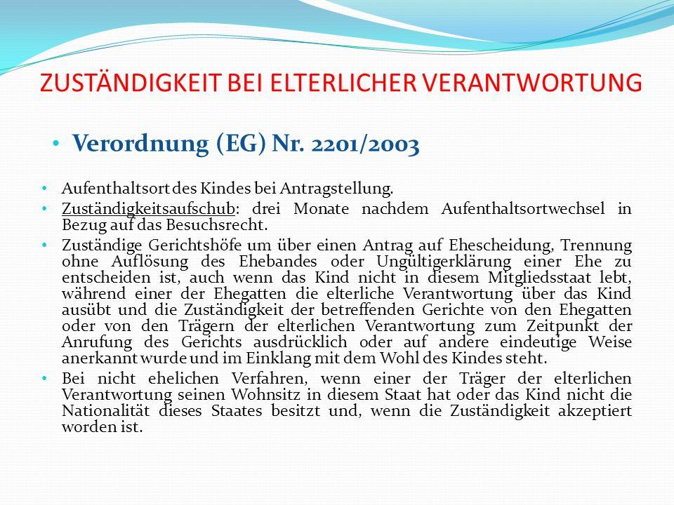 Das Haager Übereinkommen von 1996 Die Grundregel besagt, dass dieses Übereinkommen nur auf diesen Bereich anzuwenden ist, wenn sich der gewöhnliche Aufenthalt des Kindes in einen Vertragsstaat befindet (Art.