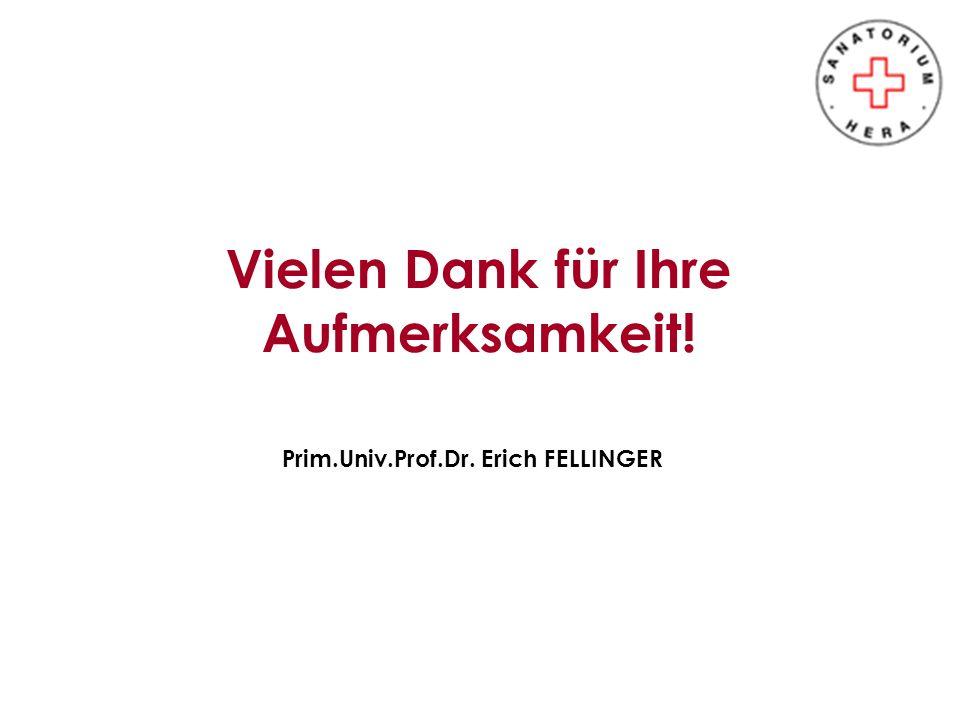 Vielen Dank für Ihre Aufmerksamkeit! Prim.Univ.Prof.Dr. Erich FELLINGER