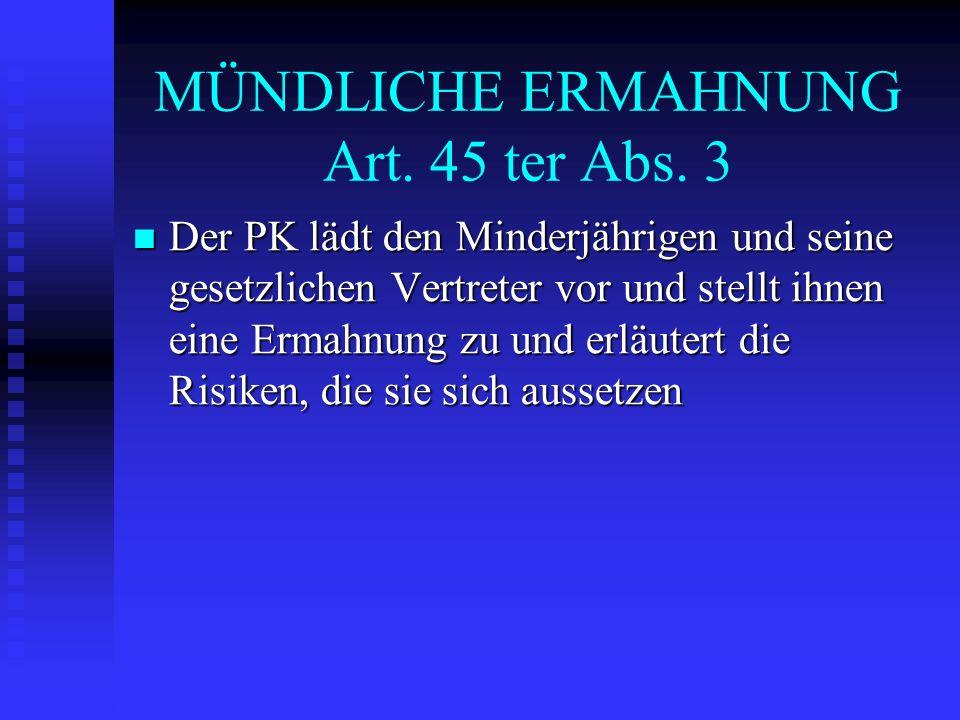 ELTERNPRAKTIKUM Art.29 bis Bedingungen: s. Maßnahmen, die die Stw.