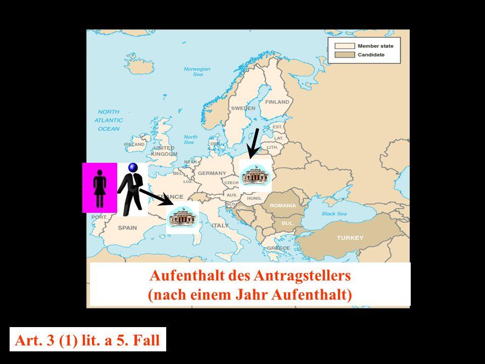 14.10.2005 Dr. Günter Tews Aufenthalt des Antragstellers (nach einem Jahr Aufenthalt) Art.
