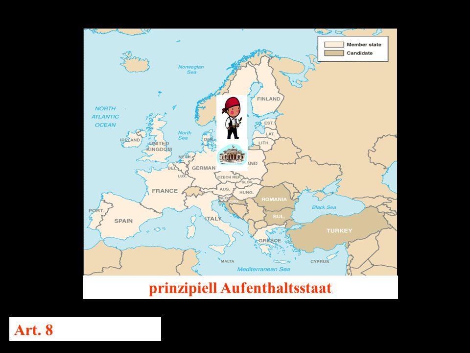 14.10.2005 Dr. Günter Tews prinzipiell Aufenthaltsstaat Art. 8