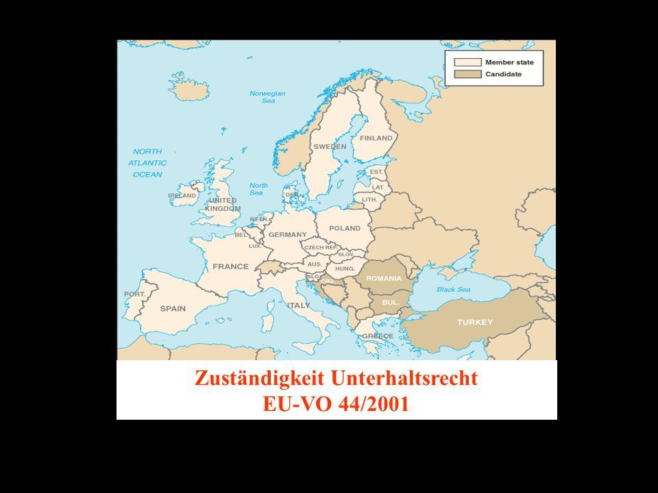 14.10.2005 Dr. Günter Tews Zuständigkeit Unterhaltsrecht EU-VO 44/2001