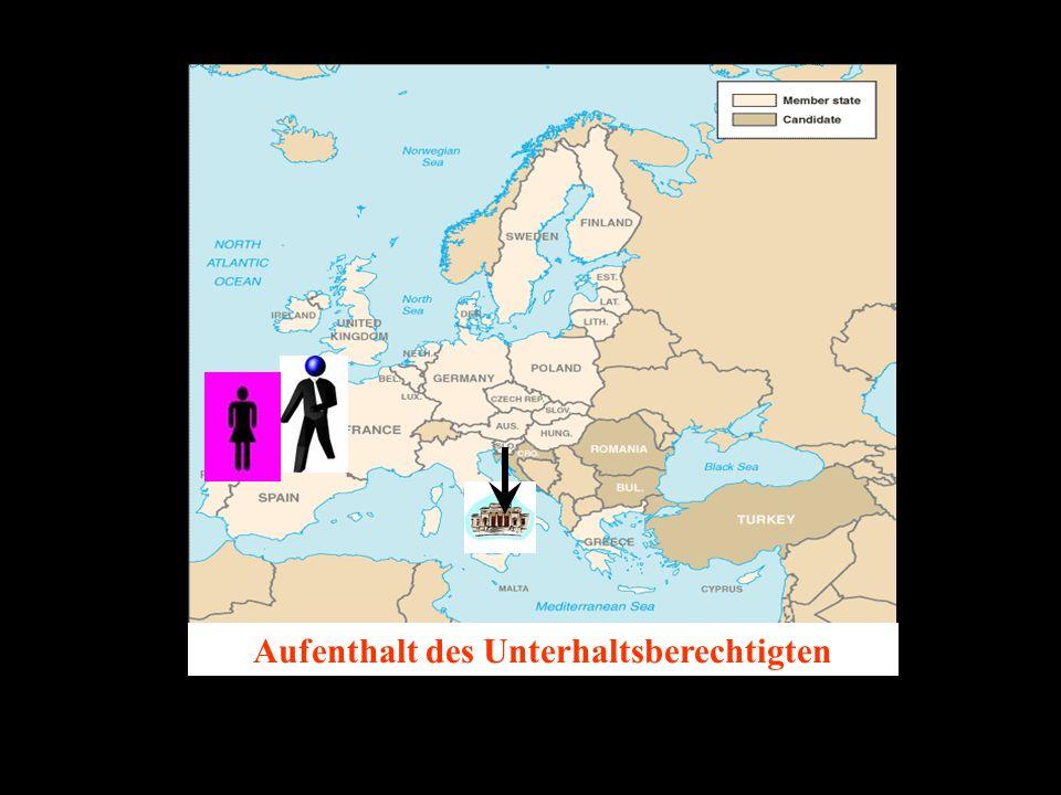 14.10.2005 Dr. Günter Tews Aufenthalt des Unterhaltsberechtigten