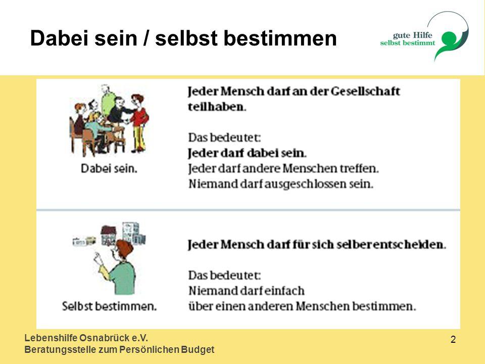 Lebenshilfe Osnabrück e.V.Beratungsstelle zum Persönlichen Budget 3 Art.