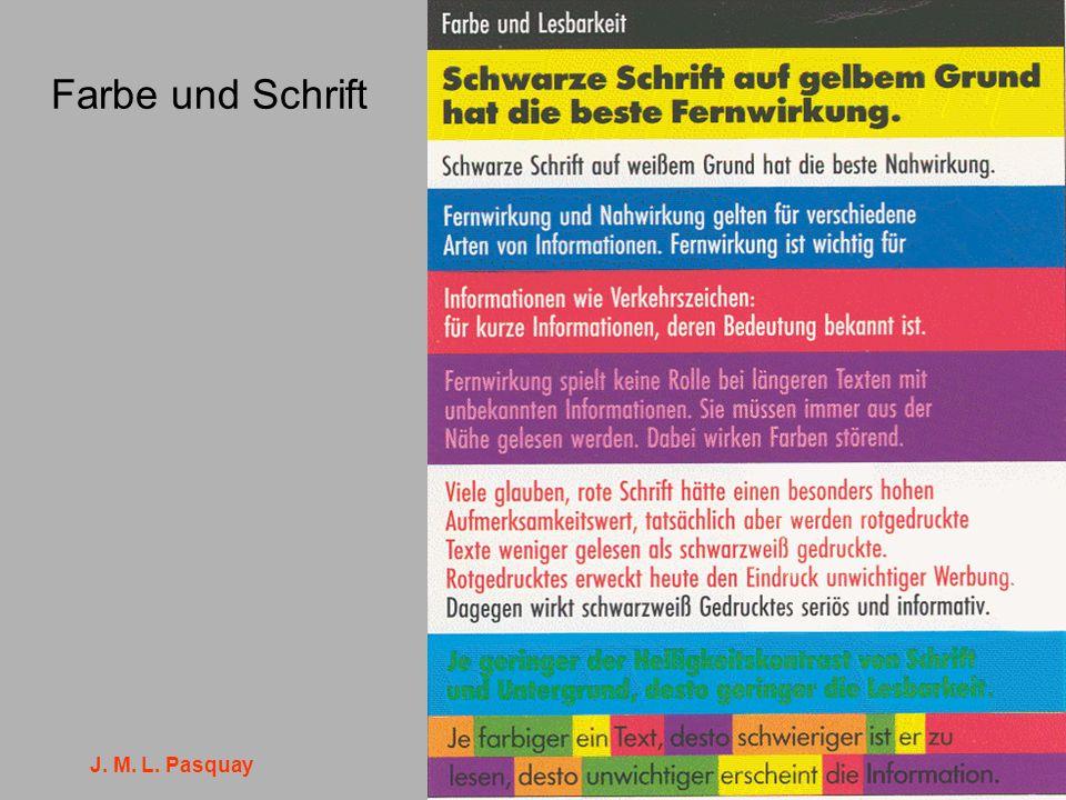J. M. L. Pasquay 14 Farbe und Schrift