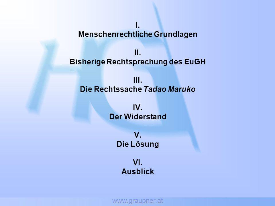 www.graupner.at I. Menschenrechtliche Grundlagen II.
