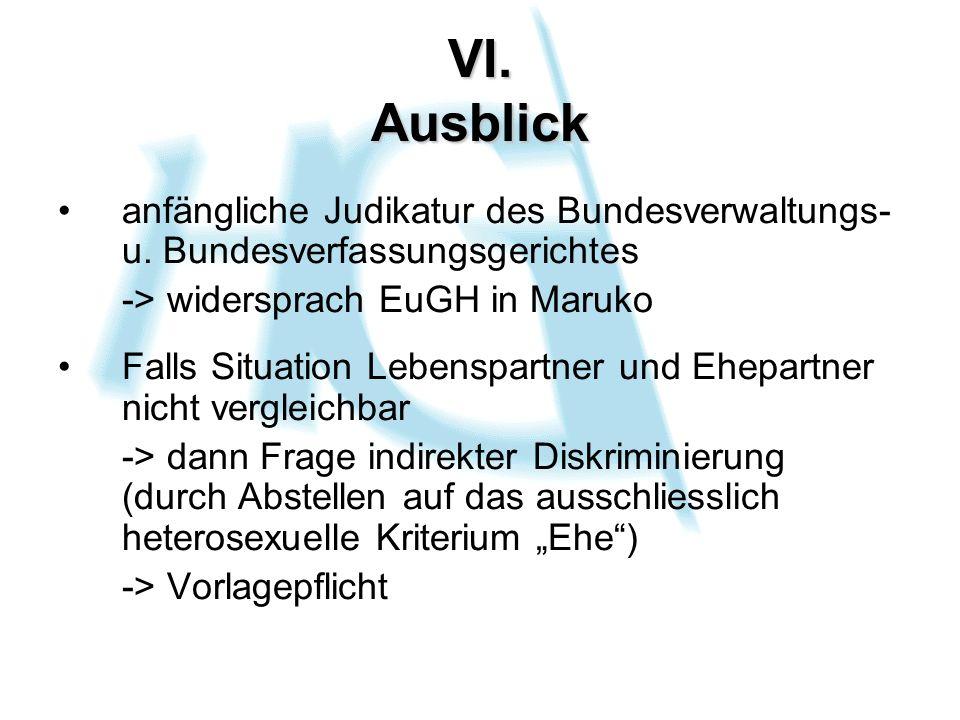 VI. Ausblick anfängliche Judikatur des Bundesverwaltungs- u.