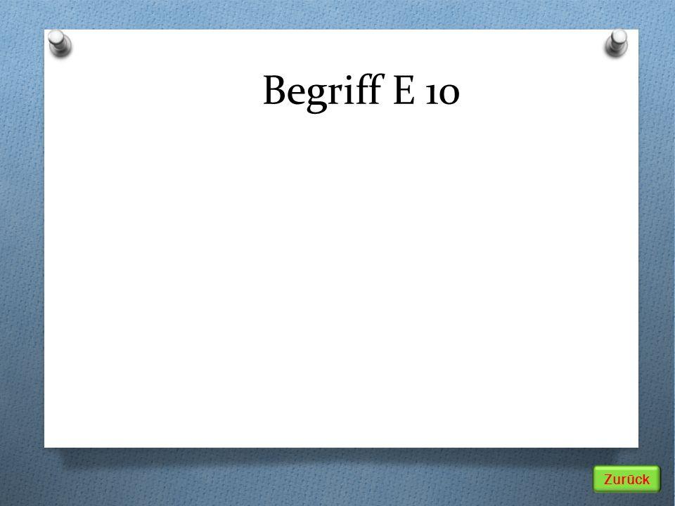 Zurück Begriff E 10