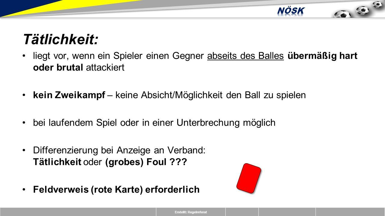 Erstellt: Regelreferat A3 Direkter Freistoß, rote Karte (Tätlichkeit) Der weiße Spieler tritt seinen Gegner auf den Unterschenkel, ohne Absicht den Ball zu spielen.