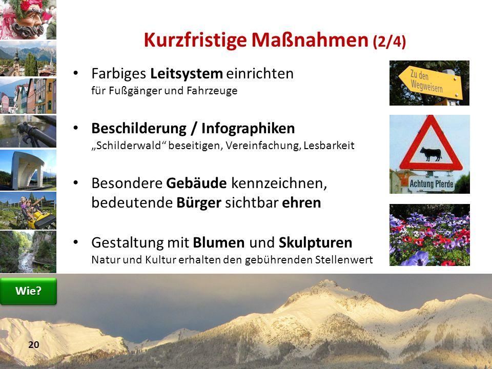 Farbiges Leitsystem einrichten für Fußgänger und Fahrzeuge Beschilderung / Infographiken Schilderwald beseitigen, Vereinfachung, Lesbarkeit Besondere