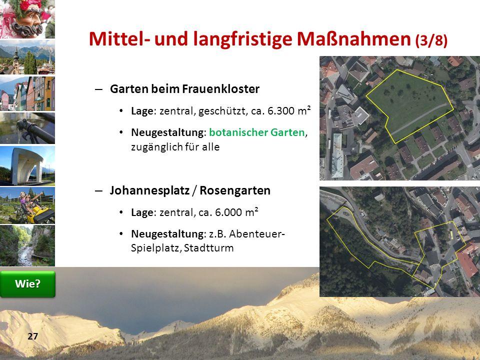 – Garten beim Frauenkloster Lage: zentral, geschützt, ca. 6.300 m² Neugestaltung: botanischer Garten, zugänglich für alle – Johannesplatz / Rosengarte