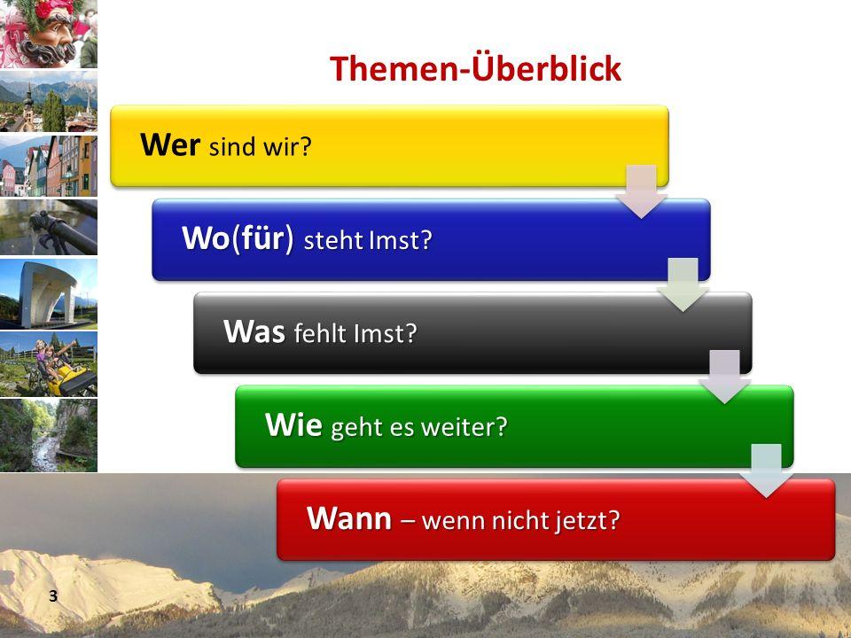 www.avt.at Themen-Überblick Wer sind wir? Wo(für) steht Imst? Wo(für) steht Imst? Was fehlt Imst? Was fehlt Imst? Wie geht es weiter? Wie geht es weit