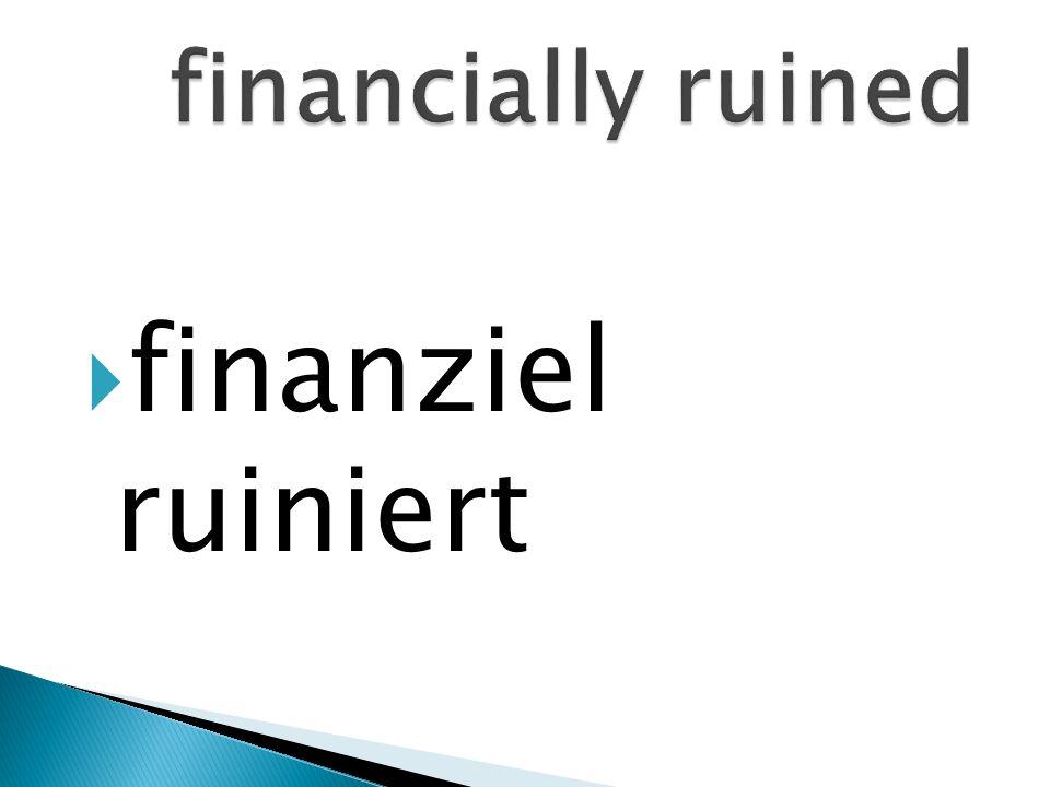 finanziel ruiniert