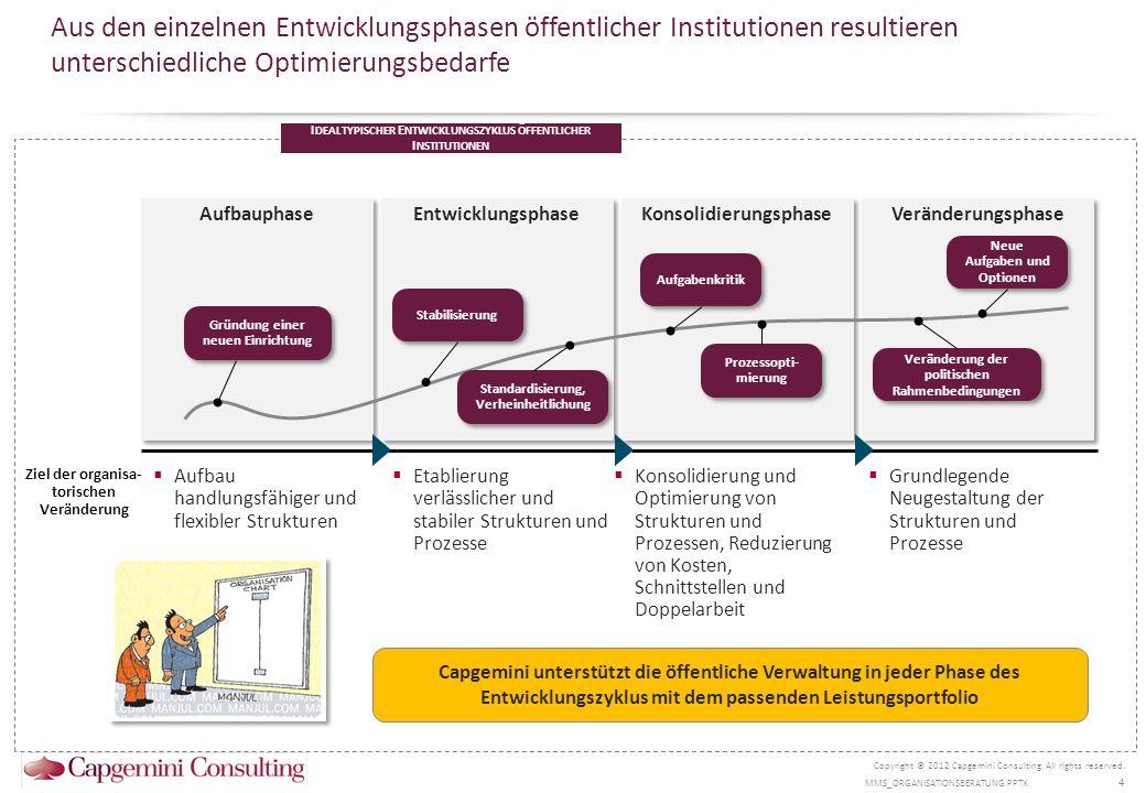 Erfolgreiche Reorganisationsprozesse erfordern ein systematisches Untersuchungsdesign Copyright © 2012 Capgemini Consulting.