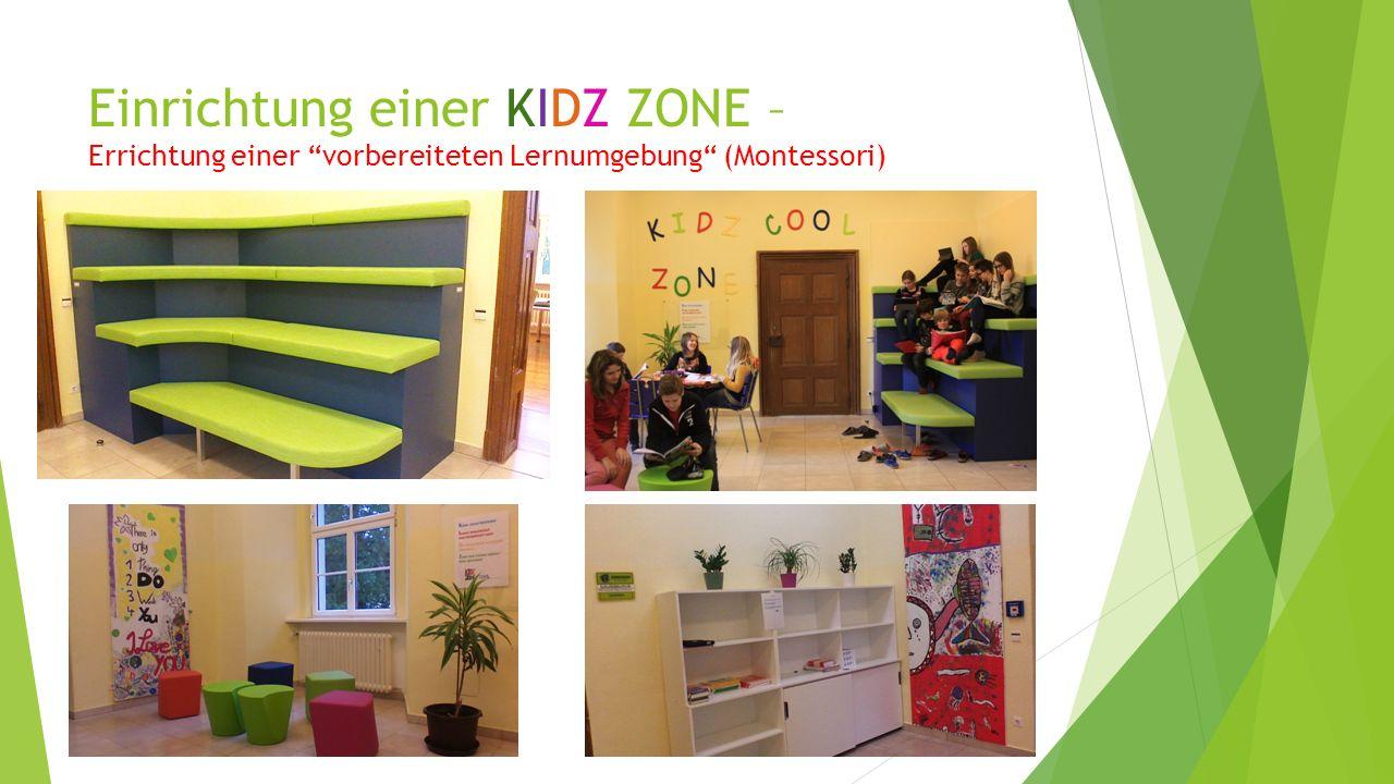 Einrichtung einer KIDZ ZONE – Errichtung einer vorbereiteten Lernumgebung (Montessori)