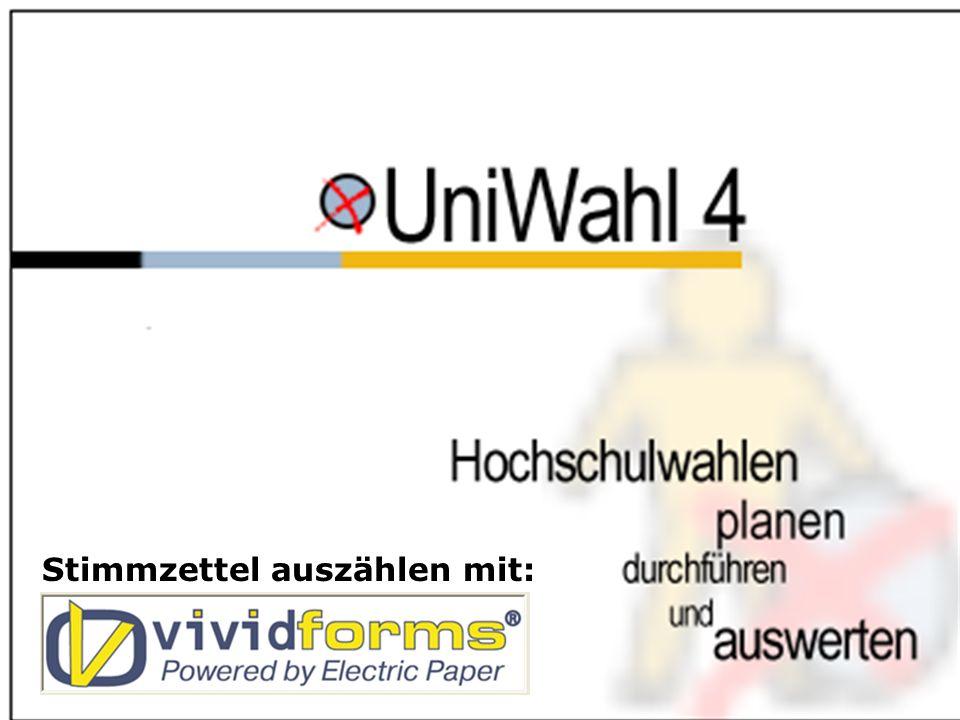 www.uniwahl-soft.de1 Das universelle Programm zur Verwaltung der Wahlen von Hochschulgremien, Personal- und Betriebsräten u.a. Stimmzettel auszählen m