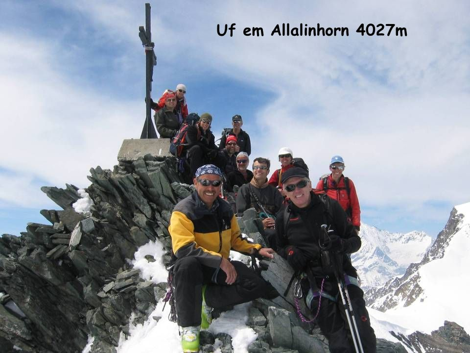 Uf em Allalinhorn 4027m