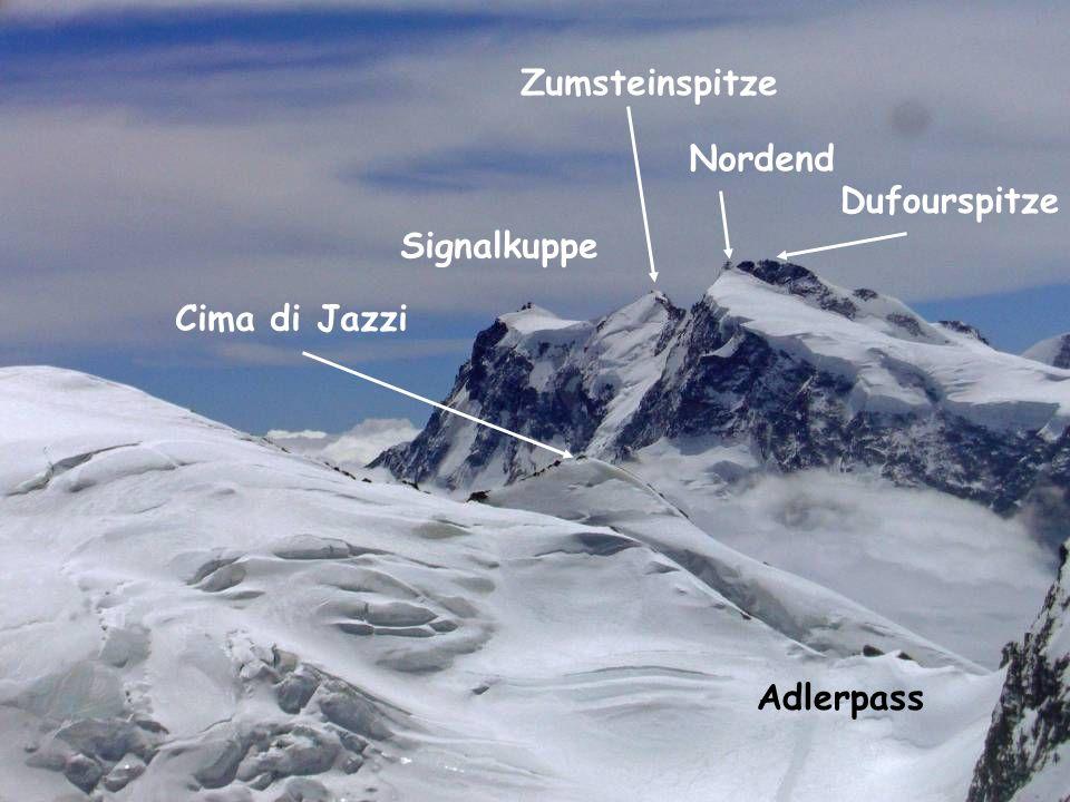Adlerpass Dufourspitze Nordend Zumsteinspitze Signalkuppe Cima di Jazzi