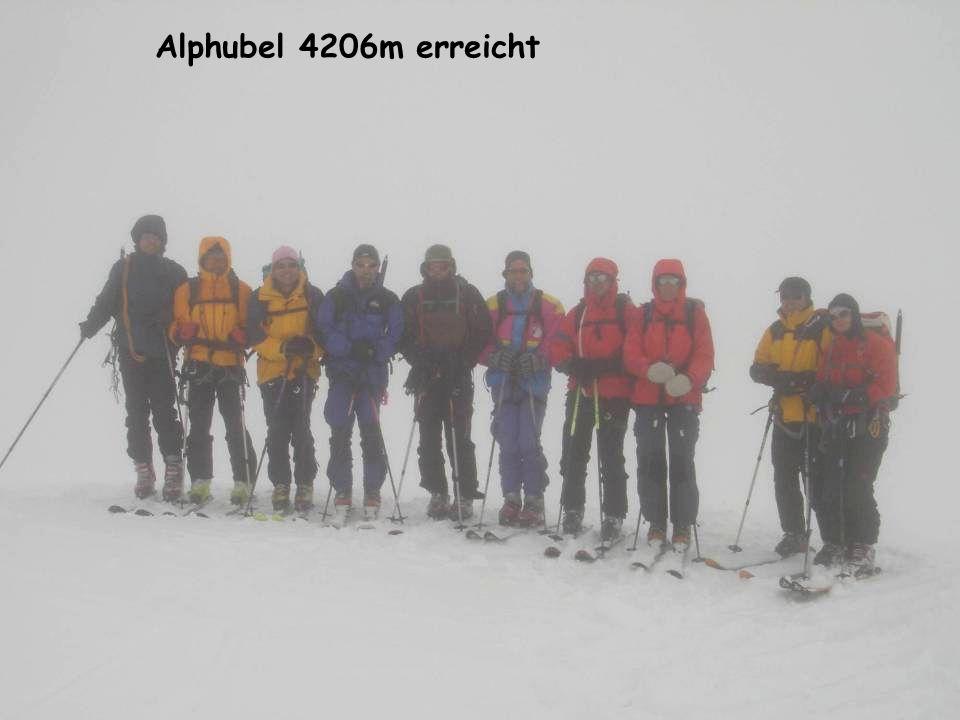 Alphubel 4206m erreicht