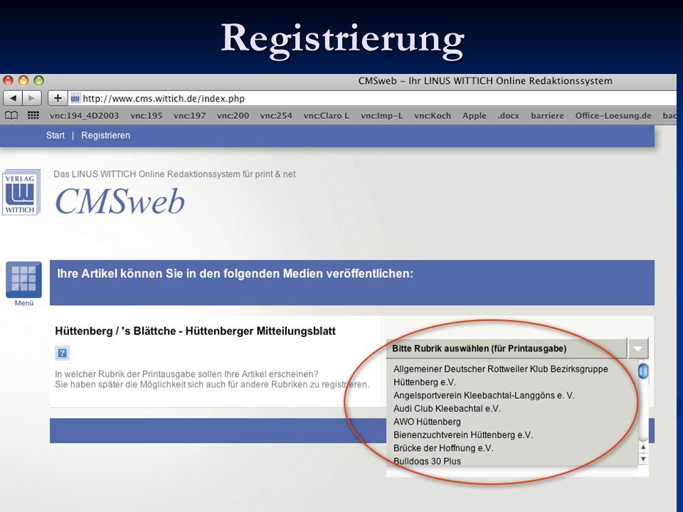 Ihre Mailadresse – wird später Ihr Username sein - und ein selbst gewähltes Passwort sichern Ihren Zugang Ihre Mailadresse – wird später Ihr Username sein - und ein selbst gewähltes Passwort sichern Ihren Zugang Registrierung