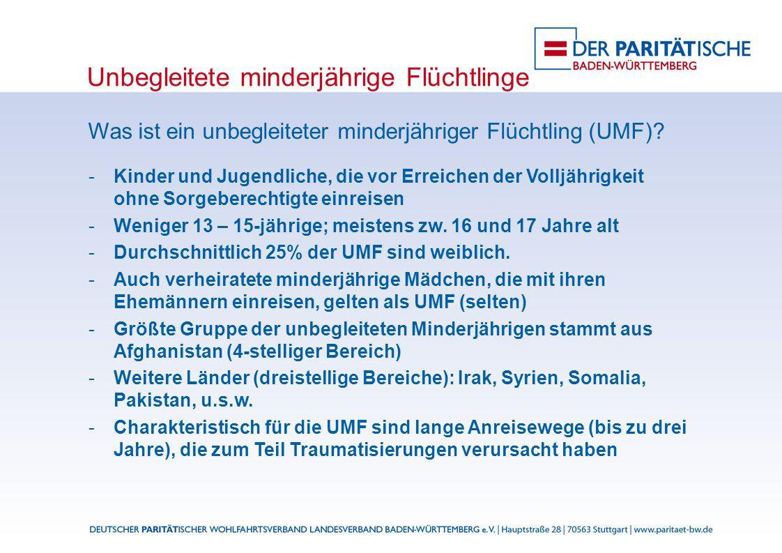 Unbegleitete minderjährige Flüchtlinge Was ist ein unbegleiteter minderjähriger Flüchtling (UMF).