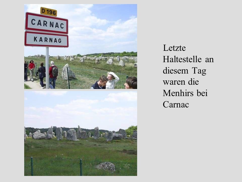 Letzte Haltestelle an diesem Tag waren die Menhirs bei Carnac