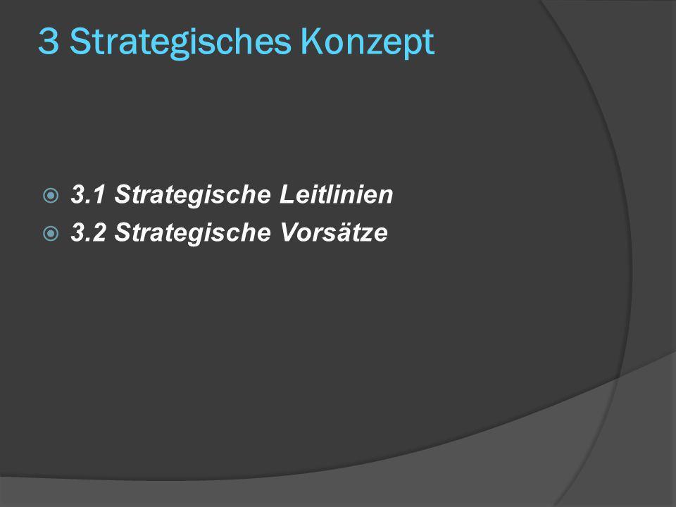 3 Strategisches Konzept 3.1 Strategische Leitlinien 3.2 Strategische Vorsätze