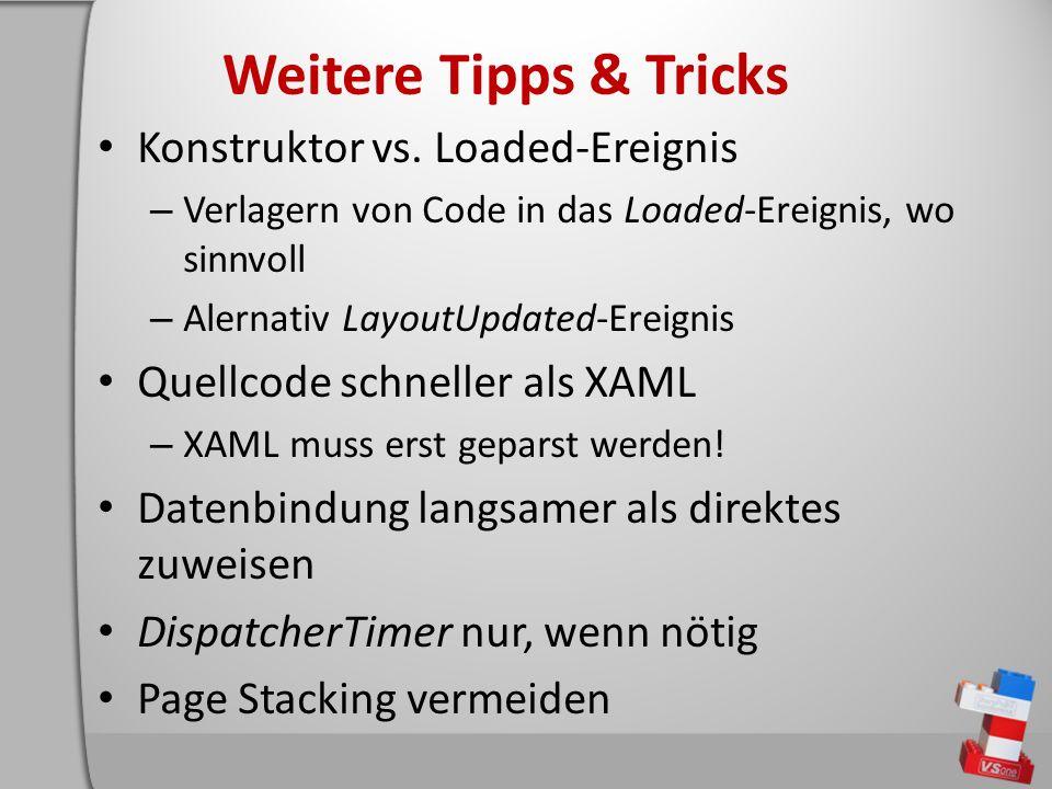 Weitere Tipps & Tricks Konstruktor vs.