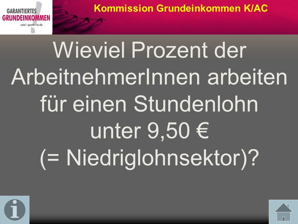 Kommission Grundeinkommen K/AC Wieviel Prozent der Kinder gelten in Deutschland als arm.