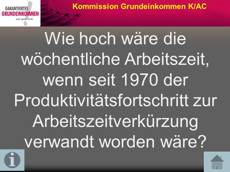 Kommission Grundeinkommen K/AC Der Umfang der Erwerbsarbeit betrug 2010 ca.