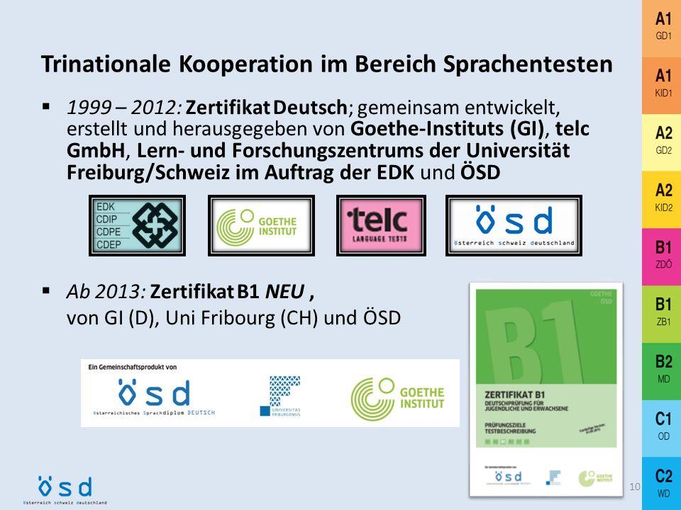 Internationale Projekte und Kooperationen Mitarbeit bei der Übersetzung desGemeinsamen Europäischen Referenzrahmens 9 Mitarbeit bei PROFILE deutsch, d