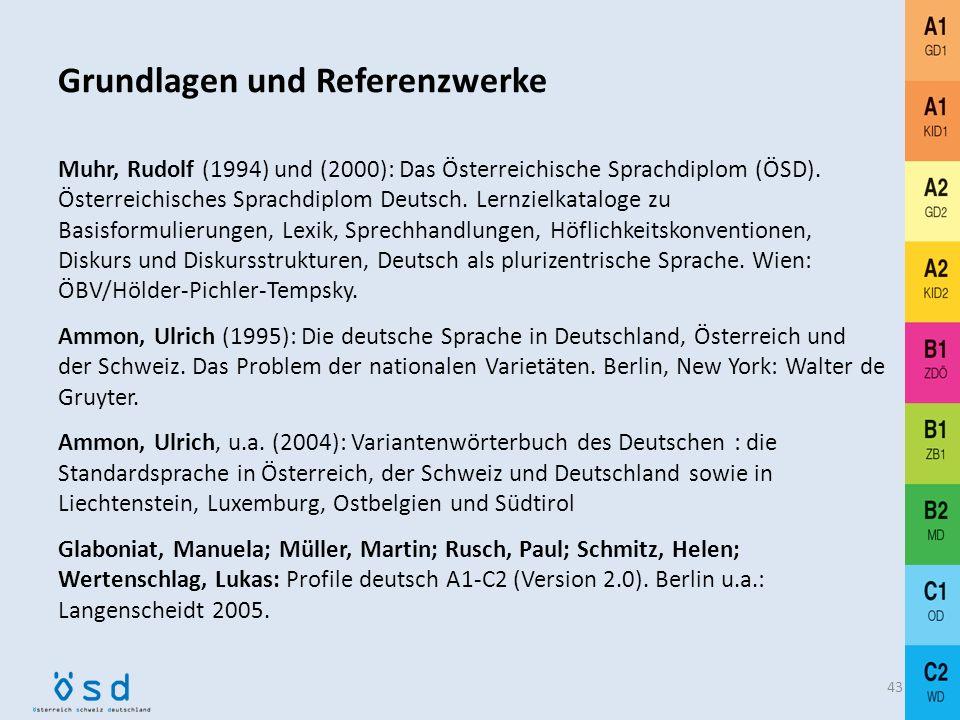 42 Varianz in der Orthografie v. a. Verwendung des Doppel-s statt ß in der Schweiz bzw. Schweizer Texten Varianz in der Pragmatik Unterschiede v. a. i