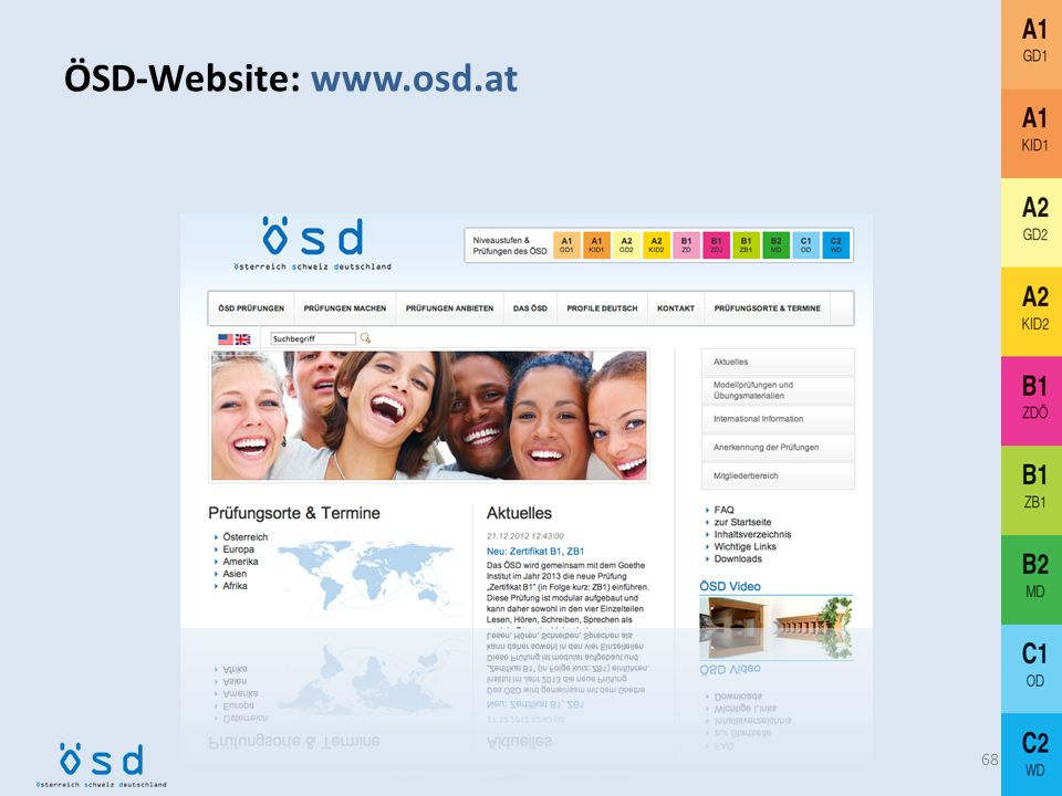 Die ÖSD-Website 67