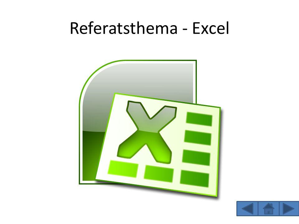 Inhaltsverzeichnis Was ist Excel.Was kann man alles mit Excel machen.