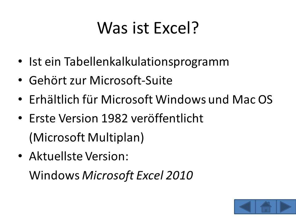 Was kann man alles mit Excel machen.