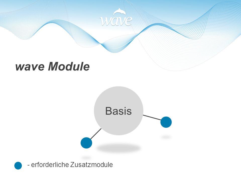 - erforderliche Zusatzmodule wave Module Basis