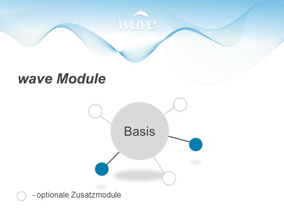 - optionale Zusatzmodule wave Module Basis