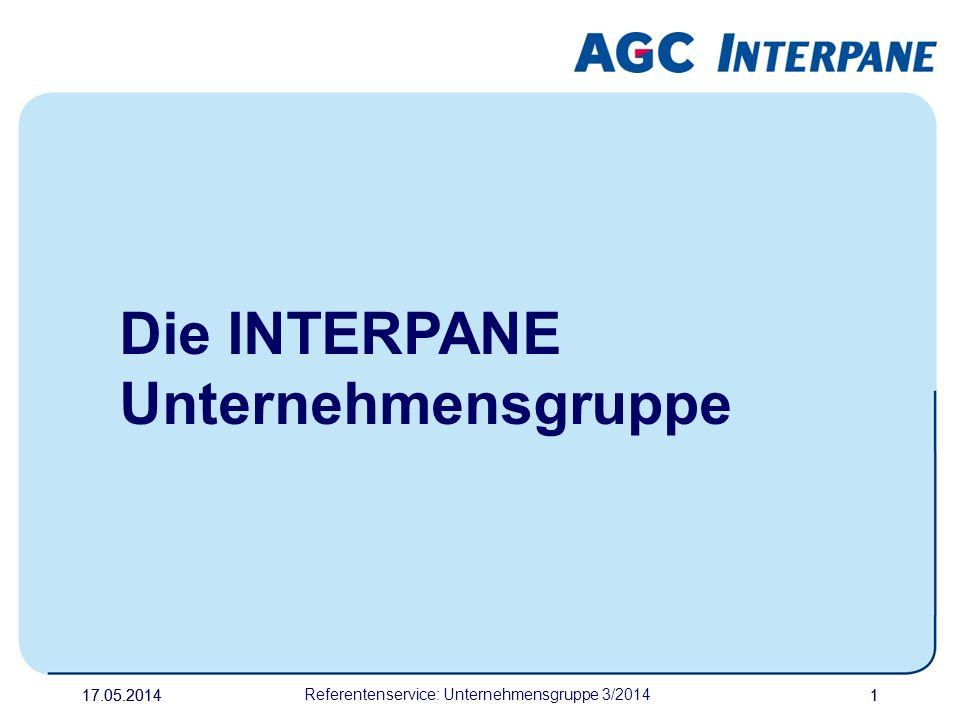 17.05.20141 Referentenservice: Unternehmensgruppe 3/2014 1 Die INTERPANE Unternehmensgruppe
