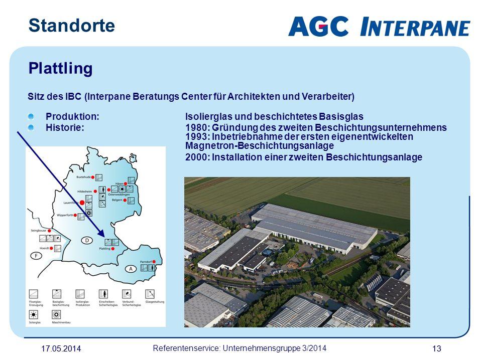 17.05.20141317.05.2014 Referentenservice: Unternehmensgruppe 3/2014 13 Sitz des IBC (Interpane Beratungs Center für Architekten und Verarbeiter) Produ