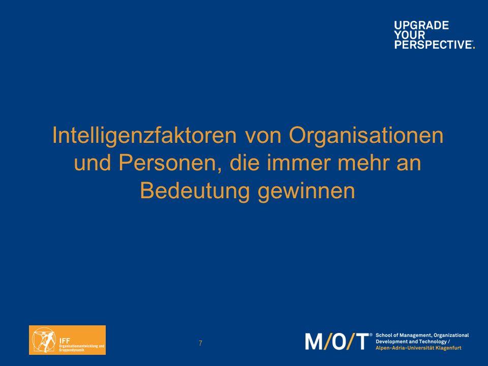 7 Intelligenzfaktoren von Organisationen und Personen, die immer mehr an Bedeutung gewinnen