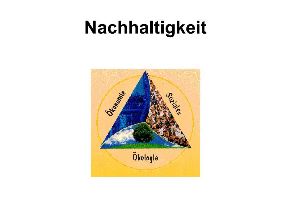 Kernpostulate der Nachhaltigkeit 3.Schutz erneuerbarer Ressourcen Wenn wir natürliche Ressourcen nutzen (wie z.B.