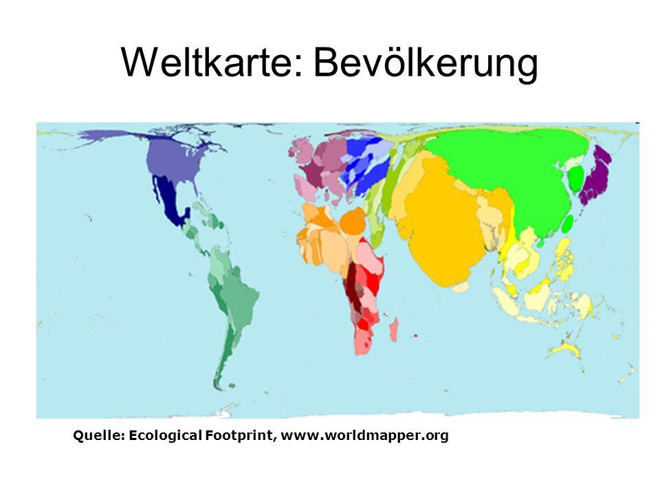 Weltkarte: Ölverbrauch Quelle: Ecological Footprint, www.worldmapper.org